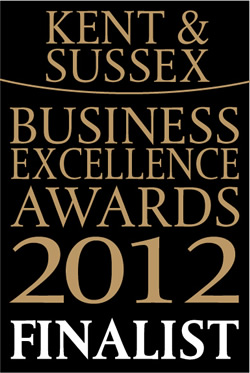 Finalist in the 2012 Kent and Sussex Business Excellence Awards