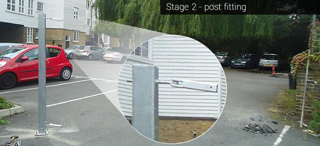 Modular gate installation: Stage 2 - installing the gate posts
