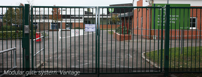 Example of IPS's Vantage modular gating system installed providing perimeter security for a school